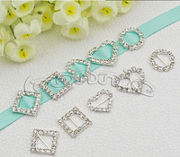 Free shipping 30pcs/lot  10MM  inner Wedding Invitation Clear Rhinestone Buckle can mix style
