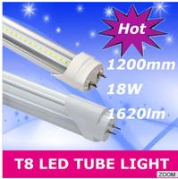 Free Shipping Wholesale 1200mm 18w led T8 led tube lamp light Top quality 96PCS led SMD 2835Epistar 1600lm CE & ROHS