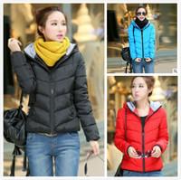 2014 winter new thickening with hood short design women coat casual slim outwear down jackets women sport overcoat L-XXXL C2009