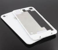 Hot sale For GSMiPhone 4S Compatible Back Glass Rear Door Battery Replace Cover White --free shipping