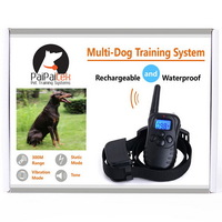 300M 100LV Electric Shock Rechargeable Waterproof Remote Dog Training Collar Products With LCD Display For 1 Dog