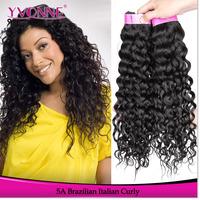Brazilian Curly Virgin Hair Weave,3Pcs/lot Grade 5A Italian Curl Unprocessed Raw Human Hair,12-28 Inch Aliexpress Yvonne Hair