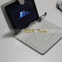 "7"" 8"" 9"" 9.7"" 10.1""  Micro USB English/Russian/poland/Spanish Leather Keyboard Case Keyboard Case Cover for Ipad Tablet PC"