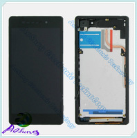 black 100% original Z2 L50W LCD For Sony Xperia Z2 L50W D6502D 6503 D6543  Z2 LCD display touch screen +frame Assembly +hk post