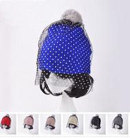 Fashion New 2014 European Style Fashion Show Mesh & Lace Knitted Cap Supermodel Street Snap Veil Beanies