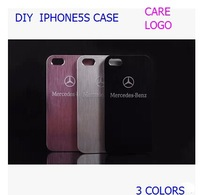 2014 New arrive car stylel For iphone 5 for iphone 5s case diy the Metal car  logo Mercedes-Benz mobile phone protection shell