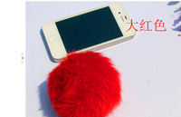 Free shipping, fur accessories fur accessories material is really rabbit mobile phone accessories wholesale accessories