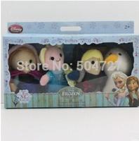 4pcs Frozen Fantoches Dolls De Dedo Cartoon Finger Puppet Plush Toys frozen elsa anna olaf  Kristoff finger puppets SX-FZ005