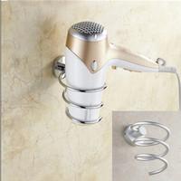 1pc/lot Innovative Wall-mounted Hair Dryer Rack Space Aluminum Bathroom Wall Shelf Storage Hairdryer Holder AY870660