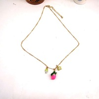 fashion necklaces 2014 hot selling The new enamel necklace rose Upscale atmosphere girls love best