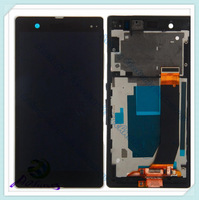 black 100% original For Sony Xperia Z LT36i LT36h LT36 LCD C6603 C6602 lcd Touch Digitizer +frame Assembly Z  LCD replacement