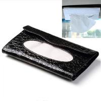 portable organizador Good Quality fashion car sun visor type hanging car tissue boxes napkin holder case with metal hanger