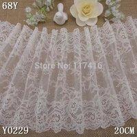 20 cm off white elastic lace trim fabric for bridal dress  home decoration