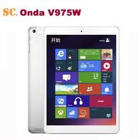 New Arrival Onda V975W Window 8.1 Intel 3735 Quad Core Tablet PC 64bit CPU 2GB 32GB Retina Screen 2048*1536 Bluetooth HDMI OTG