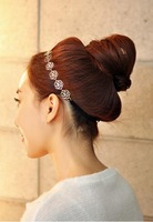 HIT  hairpin FREE shipping Ms hair with hair band  lady Sweet  rose hollow out hair hoop hair band