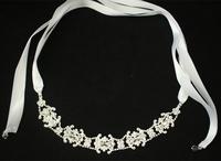 Free Shipping! New Arrive Rhinestone Headband/Necklace Ribbon Wedding Jewelry
