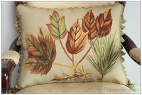 Free Shipping MAPLE LEAF Aubusson Pillow Shabby French Chic Sofa Chair Bed Cushion Cover Home Decorative