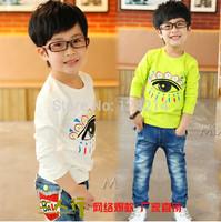 Free Shipping Children Clothing 2014 Spring Autumn New Fashion Baby Boy Kid Cotton Shirt Korean Long-Sleeved T shirt
