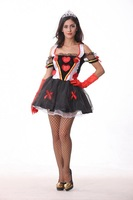 2014 BS-34Halloween Queen of Hearts Queen of Spades equipment installed nightclub DS COSPLAY costumes witch mounted