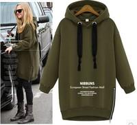 2014 Women Hoodies Fashion Fleece Pullovers for Women Autumn Coat Long Sleeve Sweatshirts for Lady Hoody Loose YS8602