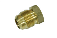 "Pack of 200 New Brass 45 Degree Flare 1/2"" OD Plug , Brass Flare Tube Fitting"