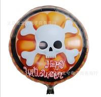 Free shipping 50pcs/lots wholesales 18 inch Halloween skull balloons , Happy birthday balloon , cartoon balloon