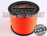 PE Dyneema Braided Fishing Line 500M Orange 80LB 0.48mm 547 Yard Spectra Braid