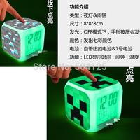 Newest Fashion The World Games diamond mine JJ Minecraft strange cooly afraid of multifunctional model clock night lamp