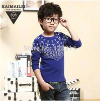 Free Shipping Children Clothing 2014 Spring Autumn New Fashion Baby Boy Kid Cotton Shirts Korean Long-Sleeved T-shirt