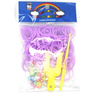 "NEW 18 colors Hot sell Family loom Bracelet Rubber Bands, DIY Silicone loom Refills 200Bands+1Hook+20 ""S"" Clip"