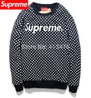 2014 brand supreme box PULLOVER men's Long sleeve Outerwear hoodie snow point dot  cotton Fleece Sweatshirt