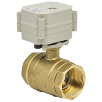 "11/4"" DN32 DC5V Electric Ball Valve, Brass Motorized Ball Valve,5 Wires With Position Indicator for water application"