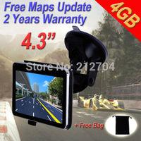 """4.3"""" Bluetooth Car GPS SAT NAV Navigation  Speedcam EU AU MAP Update"""
