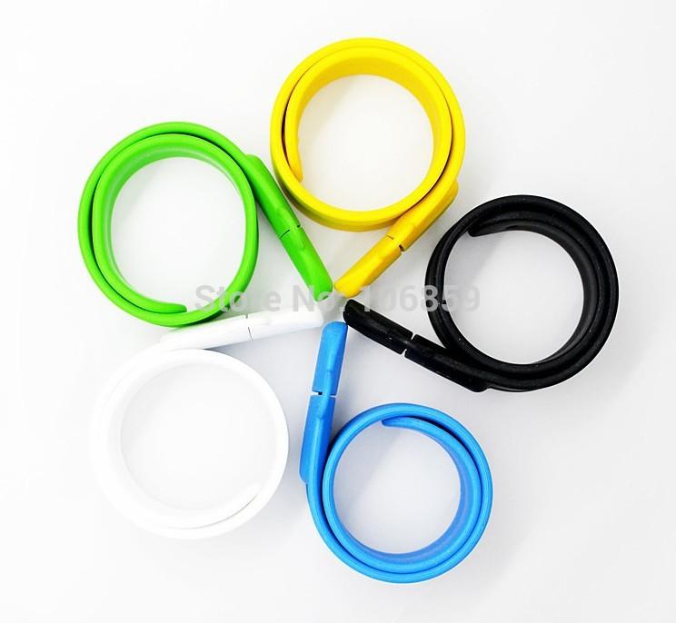 Colorful wristband / bracelet usb memory pen drive Real capacity 8GB 4GB 50pcs/lot Free shipping 50pcs/lot(China (Mainland))