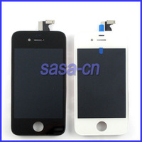 For iphoen 4 4G LCD Display with Glass Touch Screen Digitizer Replacement For iPhone 4 4G Black/White Free Shipping