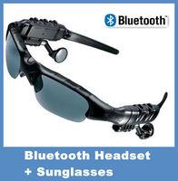 Free Shipping! HIFI Bluetooth Headset Sunglasses for Cell phone /Wireless foldable Earphone Headphone eyeglasses wholesales