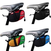 2014 New Roswheel Outdoor Cycling Mountain Bike Bicycle accessories Saddle Bag Back Seat Tail Pouch Package Black/Green/Blue/Red