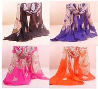 JLB 70cm*160cm New Design Printing Leopard Polka Velvet Scarf Chiffon Boho Silk winter Wrap shawl Scarves For Christmas Gifts