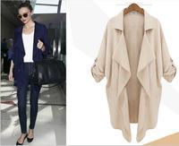 New 2014 Autumn Outerwear & Coat Plus size Women Medium-Long Sashes Trench Coat Slim Women Casual Dress Trench Coat For Women LQ