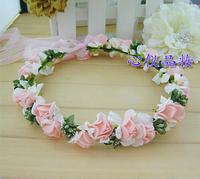 2014 Free Shipping 1 Piece Bride Wedding Hair Band Type Bridal Wreath headdress