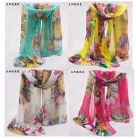 JLB 70cm*160cm New Design Printing Sun flower Polka Velvet Scarf Chiffon Boho Silk winter Wrap shawl Scarves For Christmas Gifts