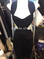 free shipping 2014 new arrival high quality gold o neck mesh hl Bandage Dress Celebrity party dress wholesale