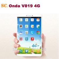 ONDA V819 4G LTE 8 Inch Tablet PC Marvell PXA1920 Quad Core 1G RAM 16G ROM IPS1280X800 GPS Bluetooth Android 4.3 2.0MP Camera