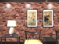 10m Brick Wall Wallpaper / Embossed Textured Bricks 4 Colors For Choose  0.53m*10m=5.3M2