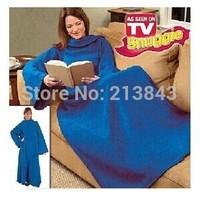 Seen On TV Snuggie Blanket With Sleeve TV Warmer Blanket Soft Fleece Lazy Cobertor 1PC Free Shipping