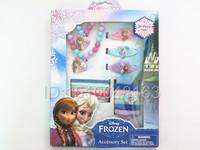 Retail 1 box Baby Girls Headwear Set Hair Accessories/Frozen Anna&Elsa Hair Clips And Elastic Hair Bands