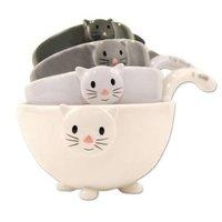 Ceramic Cat Measuring Cups/ Baking Bowls