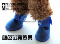Pet Dog Cute Waterproof Boots Protective Rubber Rain Shoes Super Lovely Candy Colors Booties Size S M L HW241