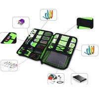 Large Cable Organizer Bag can put Hard Drive Cables USB Flash Drives Travel Case