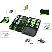 Large Cable Organizer Bag can put Hard Drive Cables USB Flash Drives Travel Case(China (Mainland))